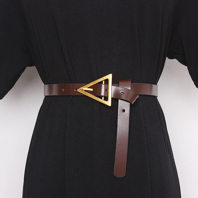 triangle buckle black belt