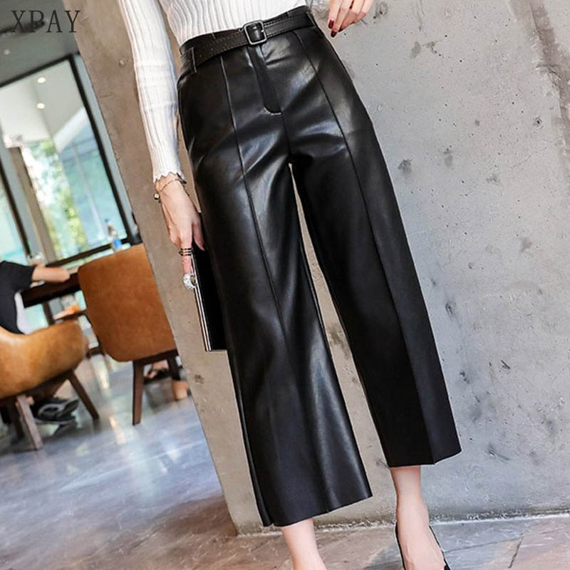 Faux PU Leather Pants
