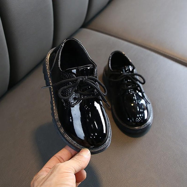 School Leather Shoes For Kids