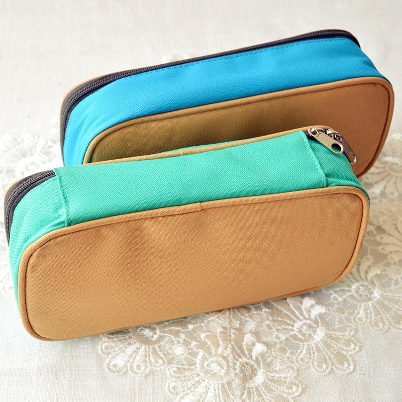 Multifunction School leather Pencil Bags