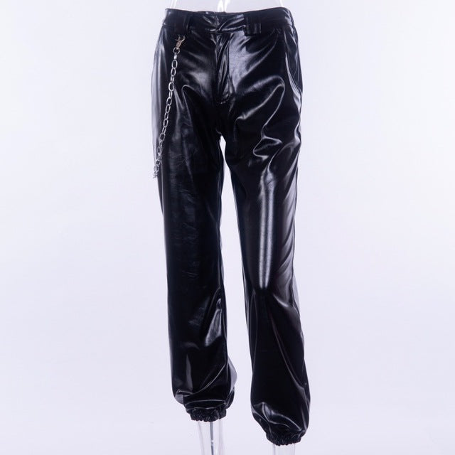 Leather Pants With Chain