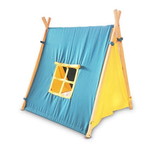 Load image into Gallery viewer, Nursery wooden kids play teepee tent for indoor or outdoor