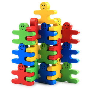 Wooden Children's Educational Toys for Balance - 16 Piece Set for ages 1+
