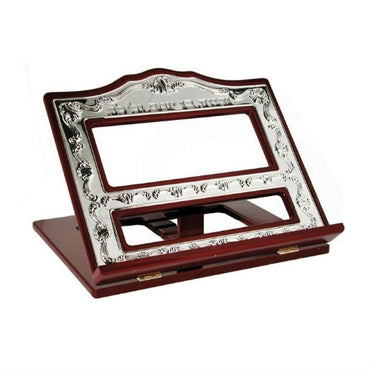 Elegant Wood and Silver book stand