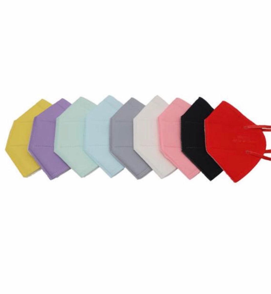 10x KN95 Multi-Colors Reusable Face Mask