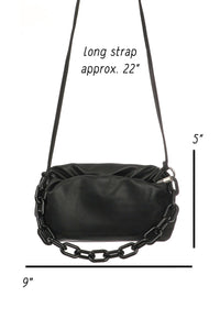 Ruched chain bag