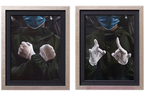 Love/Hate (diptych)