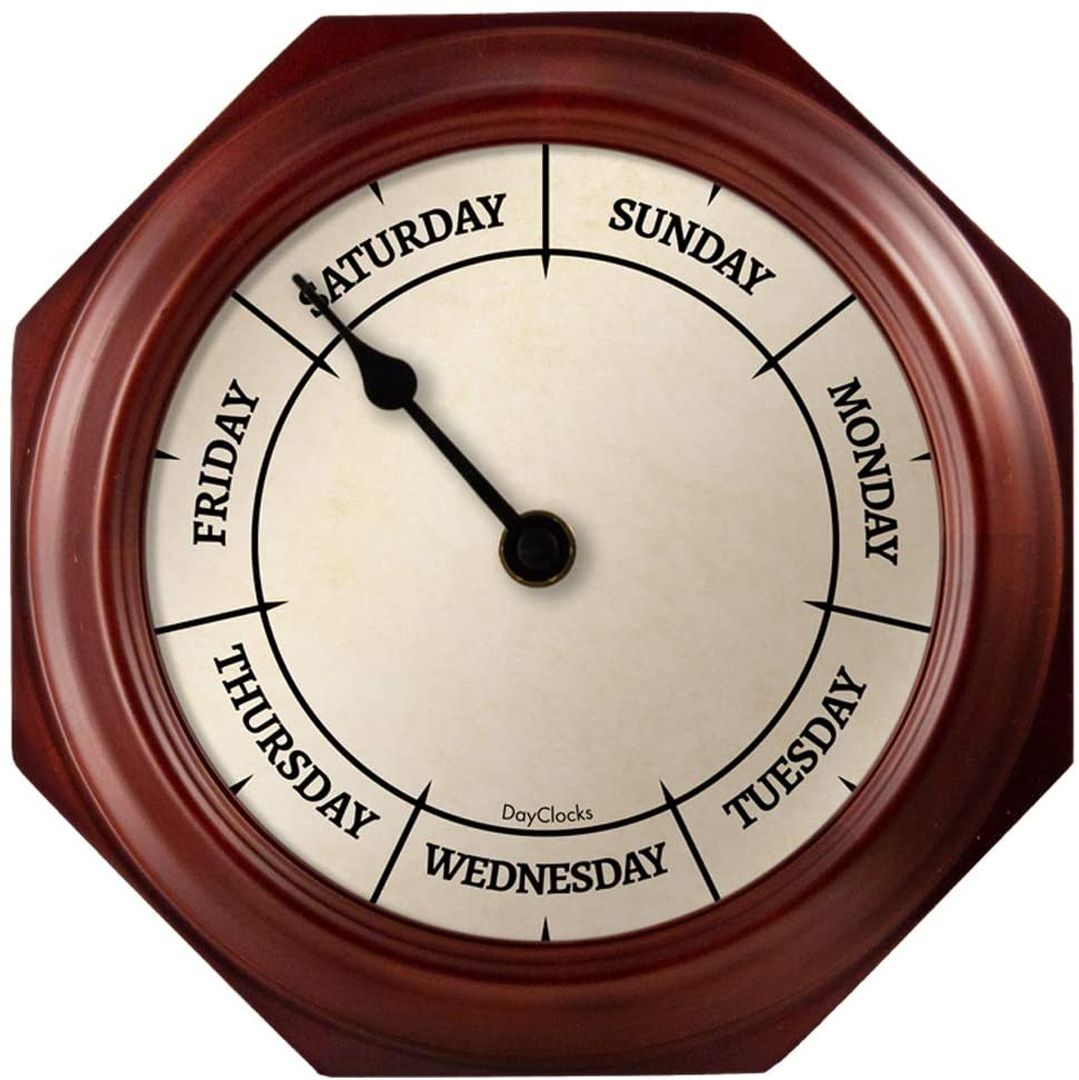 Day to Day Clock with Noon & Midnight Markers