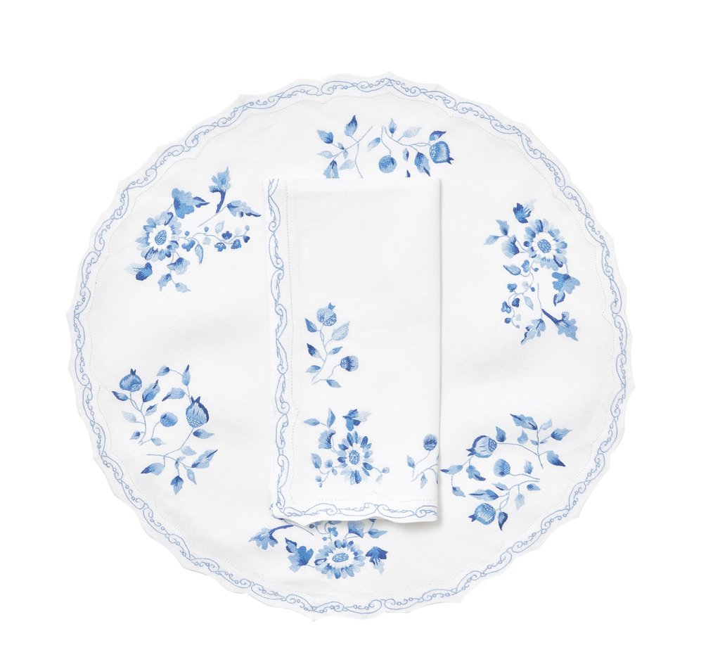 Mers de Chine Bleu Set de table 2 P.