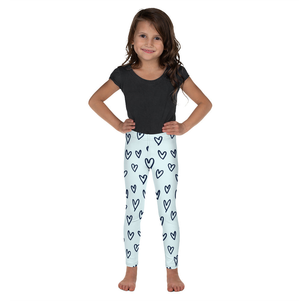 Funky Hearts, Kid's Toddler/Leggings, Turquoise