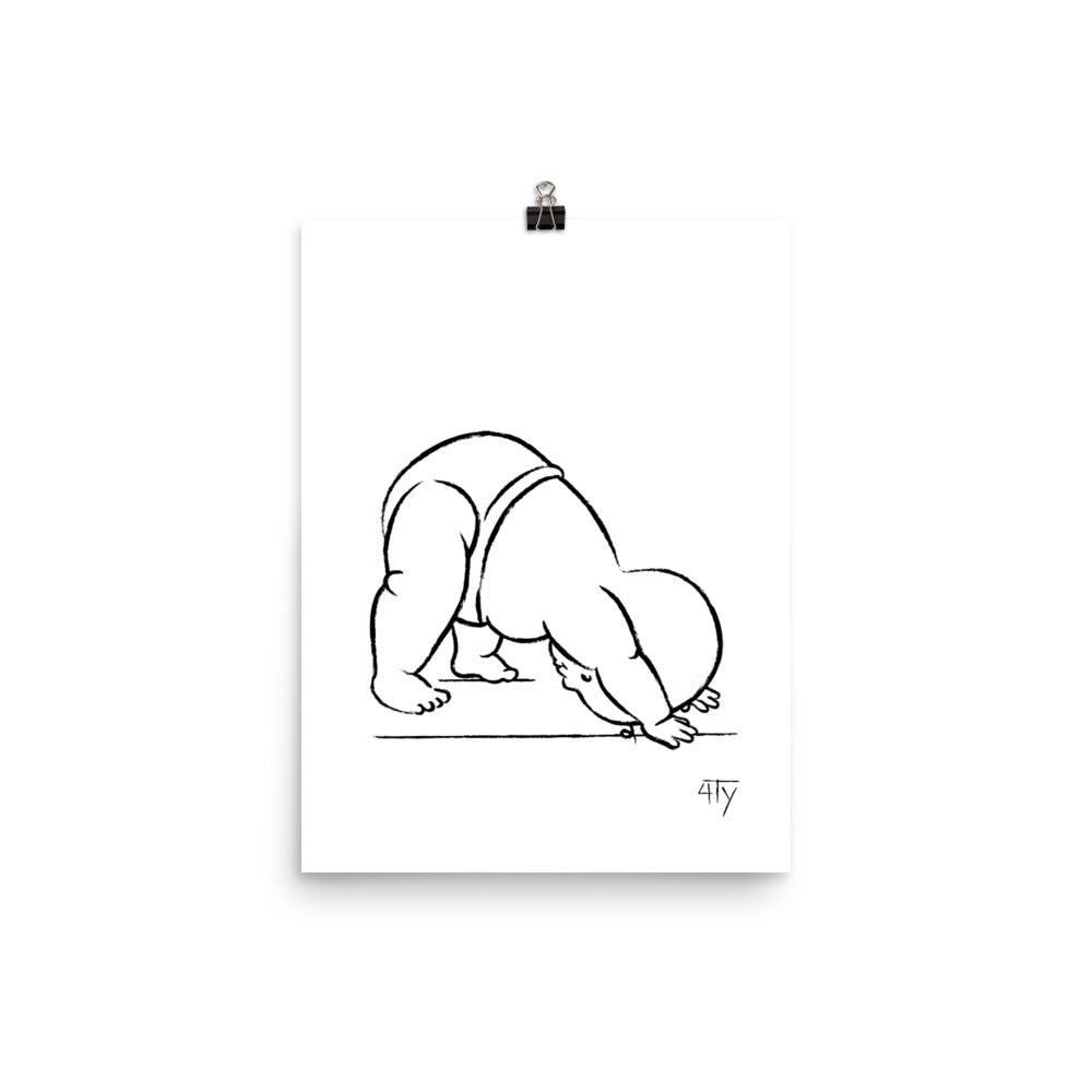 Load image into Gallery viewer, Baby Yogi, Downward dog, Poster