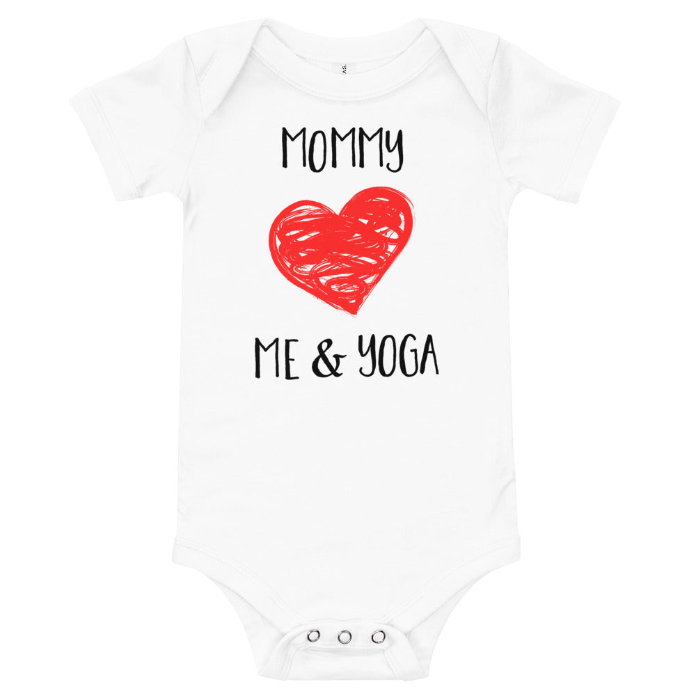 Load image into Gallery viewer, Mommy Loves Me & Yoga, Baby Onesie