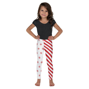 Christmas Candy Cane & Snowflakes, Toddler/Kid's Leggings