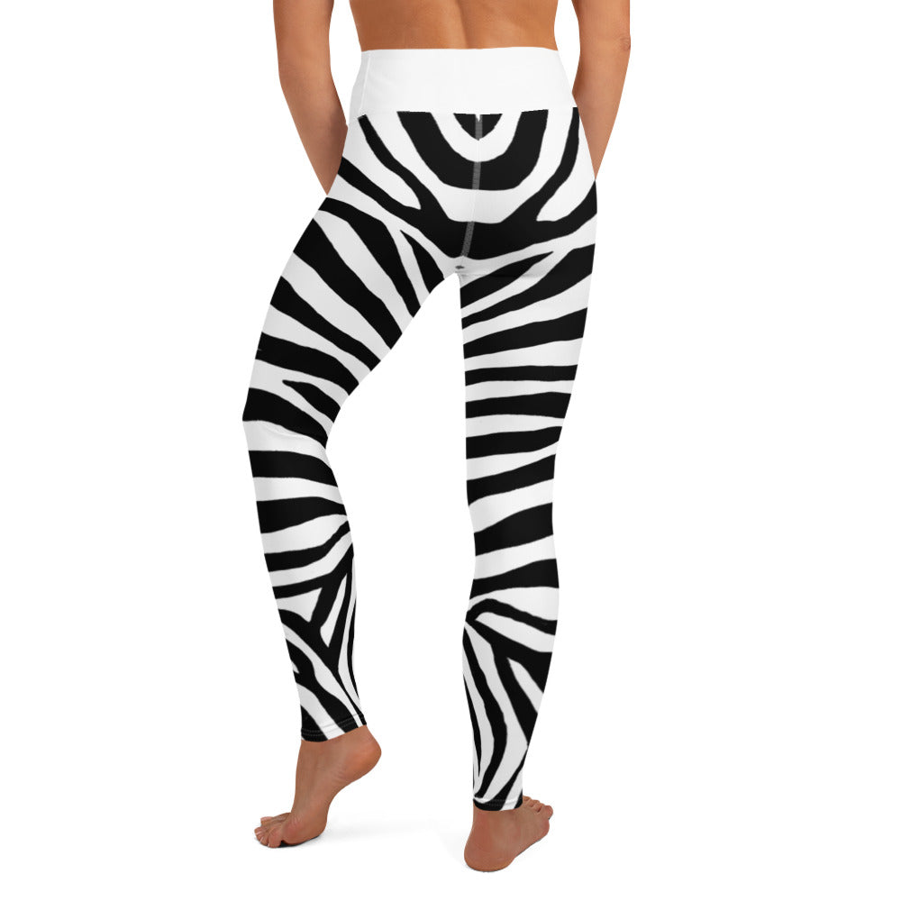 Load image into Gallery viewer, Zebra, Yoga Leggings