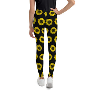 Load image into Gallery viewer, Sunflowers, Kids/Teen Leggings