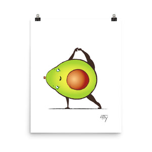 Load image into Gallery viewer, Poster, Avocado Yogi, Side Plank