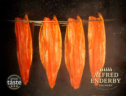 Alfred Enderby's Traditional Smoked Salmon (500g) Moorcroft Seafood Home Delivery
