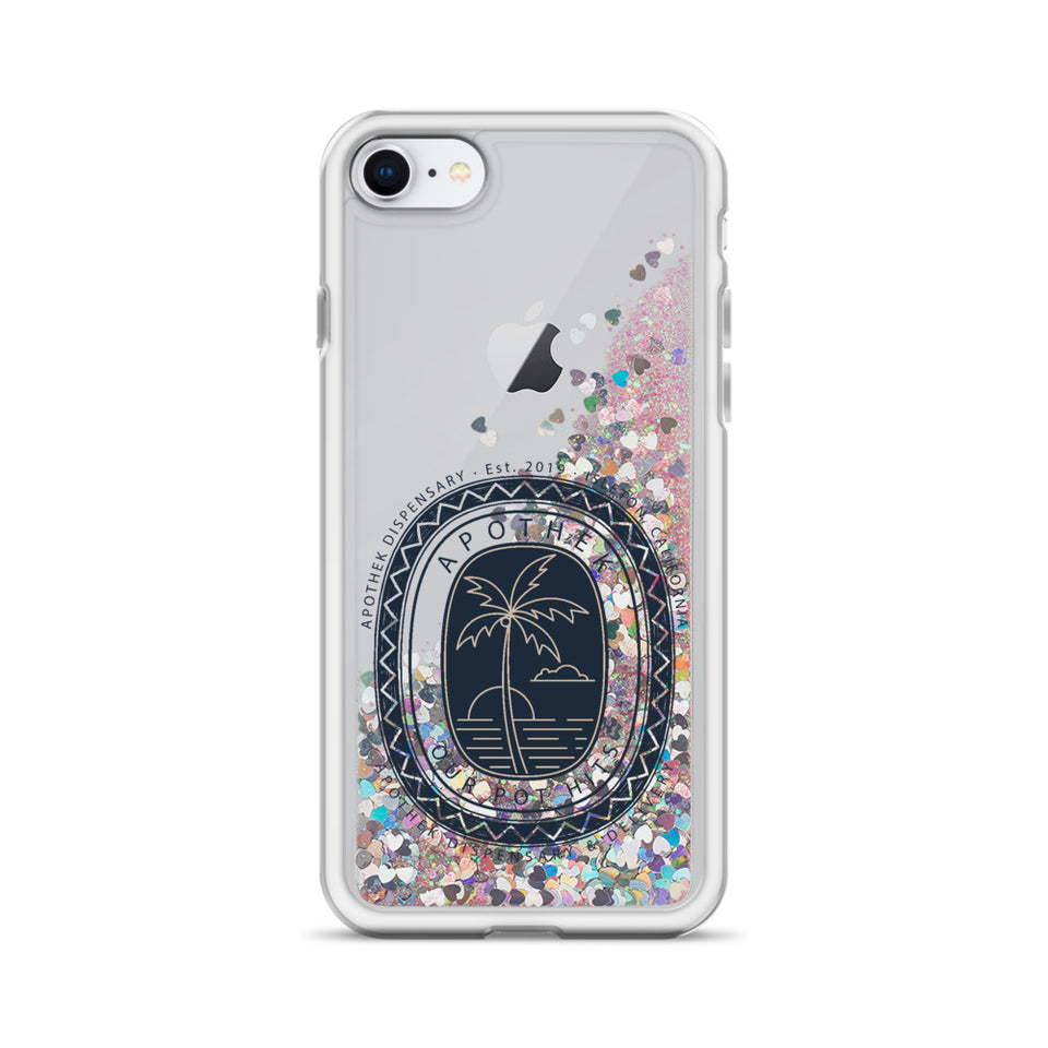Apothek Stamp Liquid Glitter Phone Case