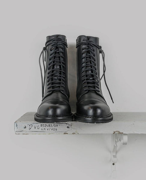 Lace-Up Military Style Boots