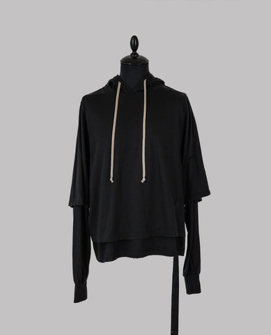 Asymmetrical Zipped Mountain Hoodie - Allotment Store
