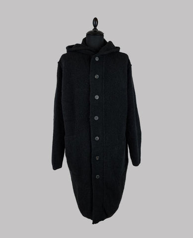 Yak Wool Hooded Cardigan
