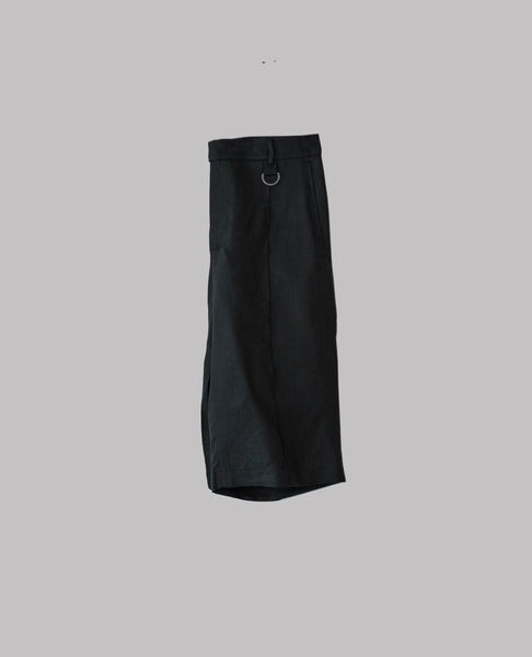 Knee-Length Linen Shorts