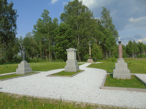 Russian officers' graves in front of Monument to 23rd Division