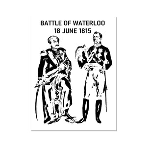 Wellington and Blücher Battle of Waterloo Black and White Print - Napoleonic Impressions
