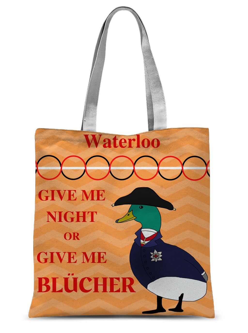 Duck of Wellington and Elephant Blücher Sublimation Tote Bag - Napoleonic Impressions
