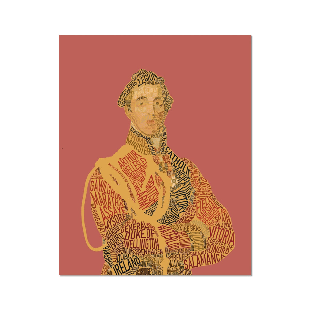 Duke of Wellington Text Art Print - Napoleonic Impressions