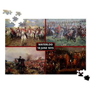 Battle of Waterloo Collage Jigsaw Puzzle - Napoleonic Impressions