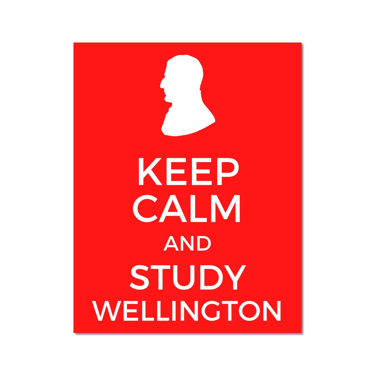Keep Calm and Study Wellington Poster - Napoleonic Impressions