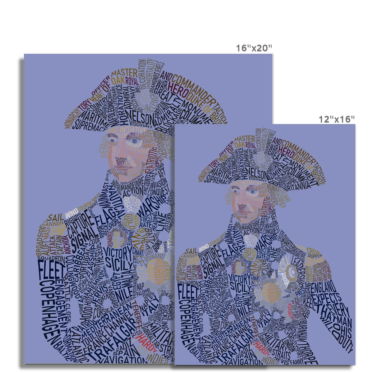 Admiral Horatio Nelson Text Art Print - Napoleonic Impressions