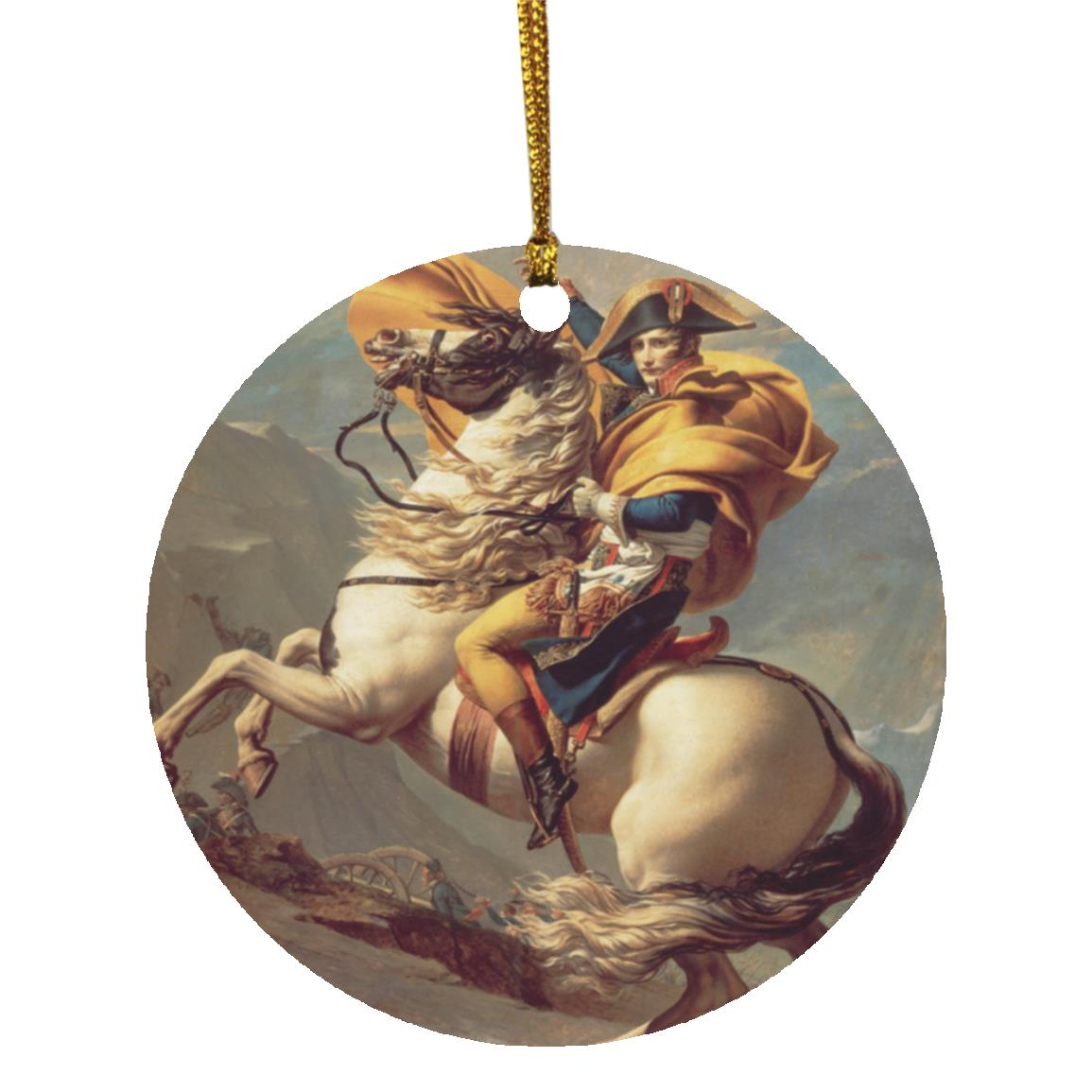 Napoleon Crossing the Alps Christmas Ornament - Napoleonic Impressions