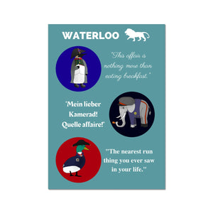 Waterloo Animals Poster - Napoleonic Impressions