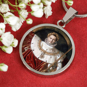 Napoleon I on his Imperial Throne Circle Pendant - Napoleonic Impressions