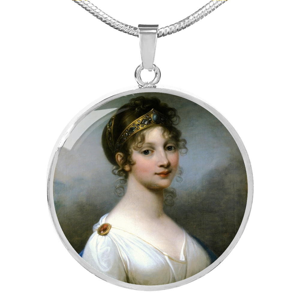 Queen Louise of Prussia Circle Pendant - Napoleonic Impressions