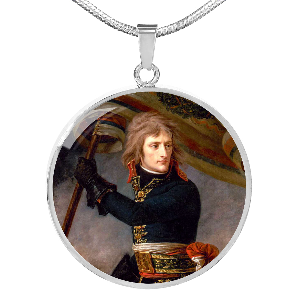 Bonaparte at the Bridge of Arcole Circle Pendant - Napoleonic Impressions
