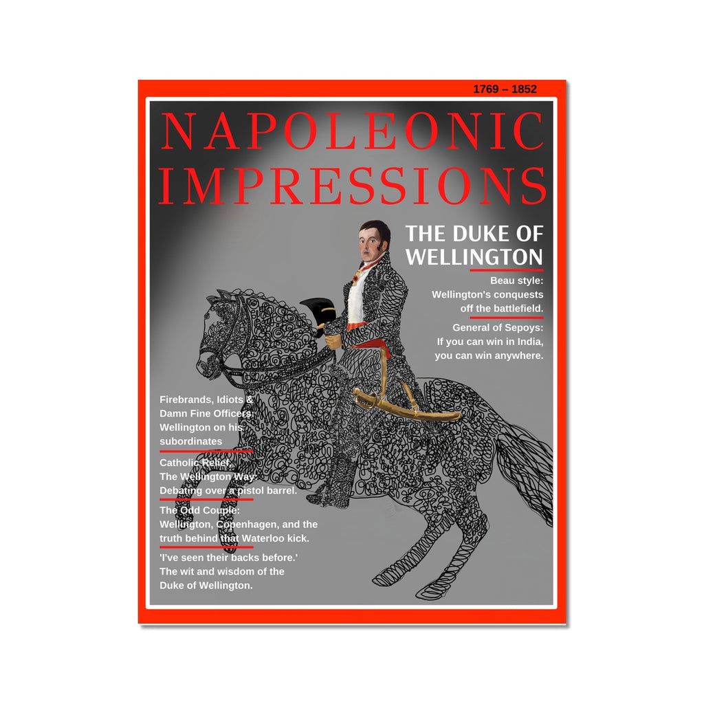 Duke of Wellington Magazine Cover Poster - Napoleonic Impressions
