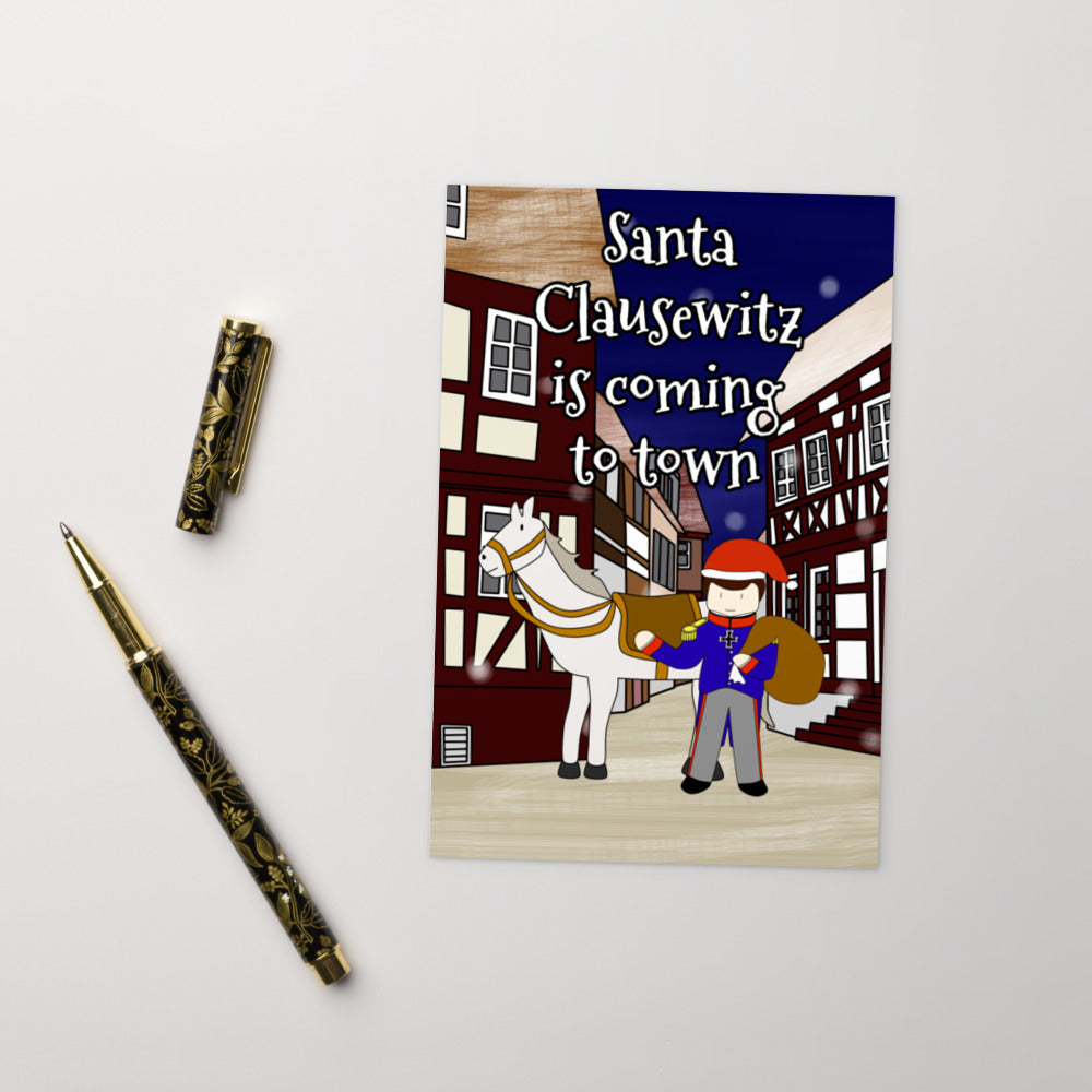 Santa Clausewitz is Coming to Town Postcard - Napoleonic Impressions