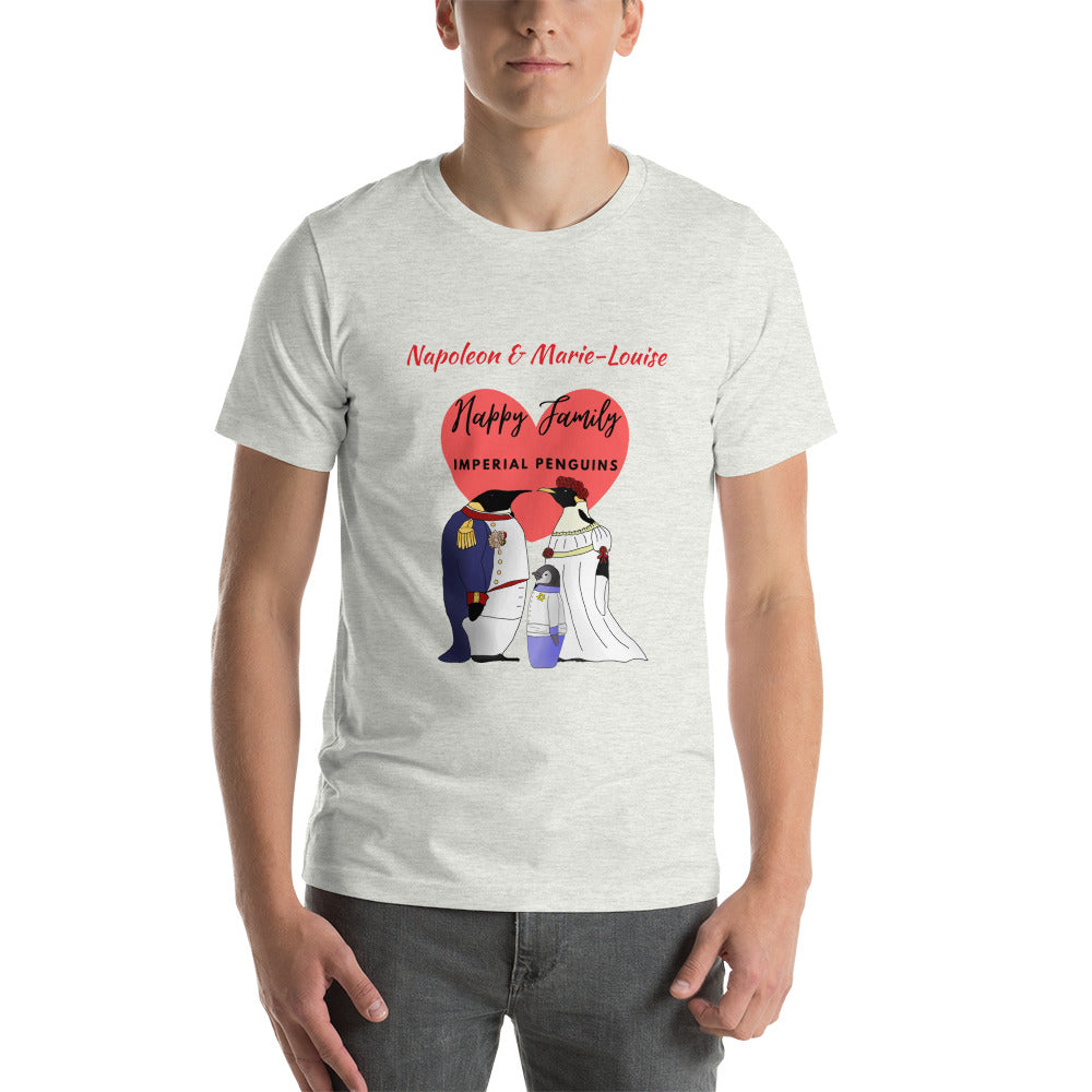 Happy Family Penguins Personalised Premium Unisex Tee - Napoleonic Impressions