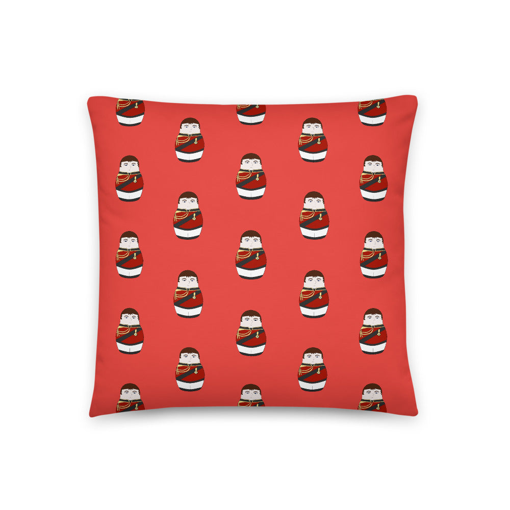 Duke of Wellington Matryoshka Pattern Sofa Cushion - Napoleonic Impressions