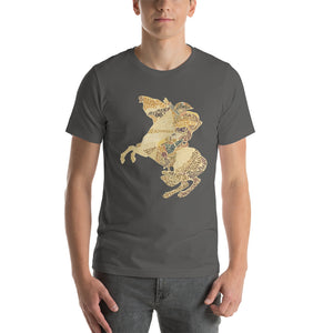Napoleon Crossing the Alps Text Art Premium Unisex Tee - Napoleonic Impressions