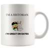 """I'm a historian, I'm great on dates"" cute bunnies mug - Napoleonic Impressions"