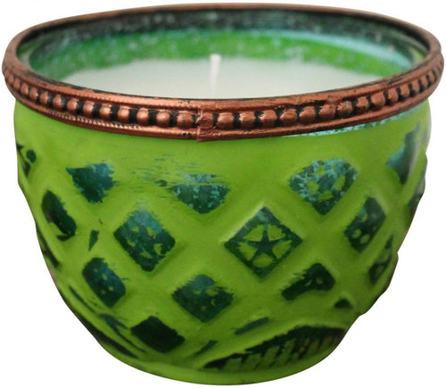 Candle Croix Yellow Green - Simply Special Invercargill