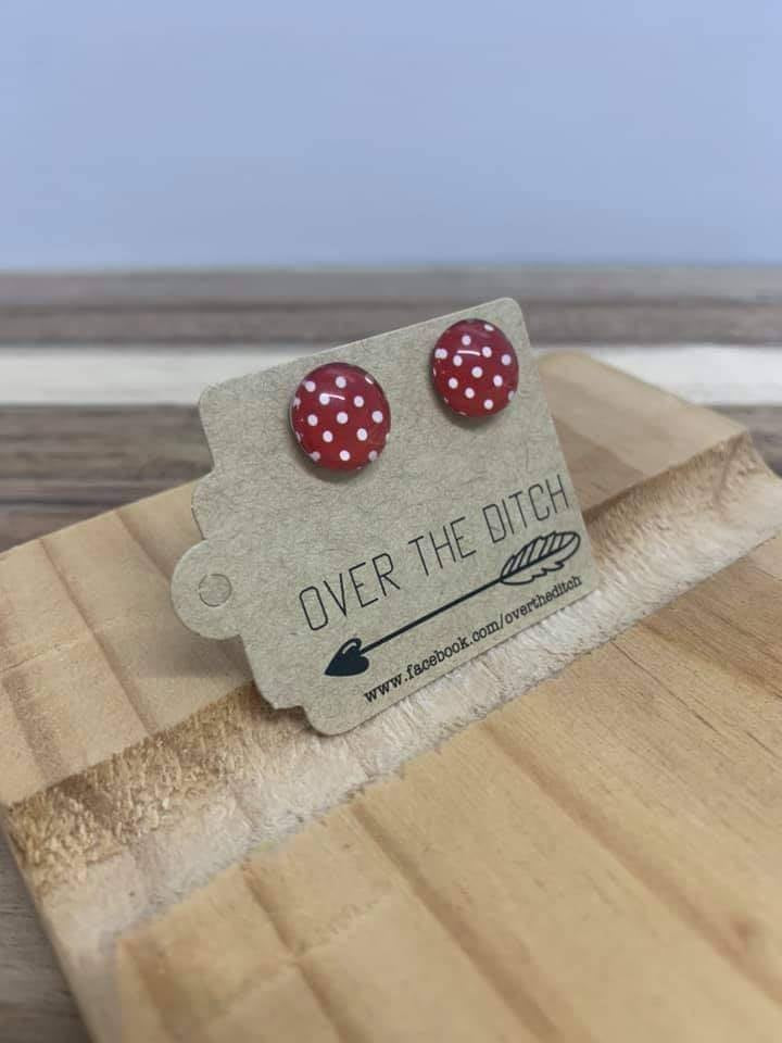 MINNIE MOUSE DOME EARRINGS