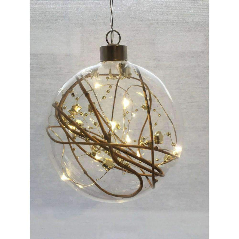 Gold Star and Bead Hanging Seedlight Sphere
