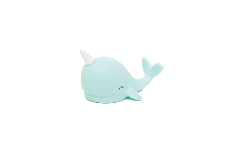 Blue Baby Narwhal Mini Light