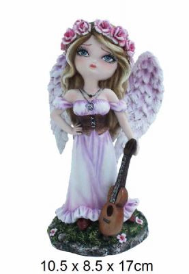 Dolly Fae Figurine Cute Guitar Angel - Simply Special Invercargill