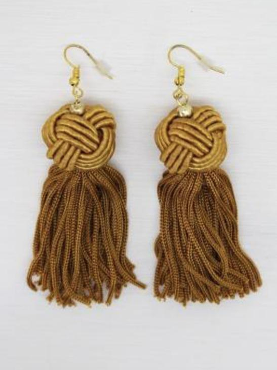 Mustard Knot Earrings - Simply Special Invercargill